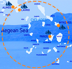 cyclades sailing routes